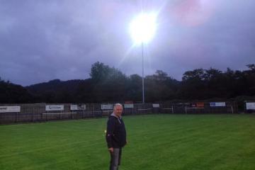 Cwm celebrate installation of new floodlights