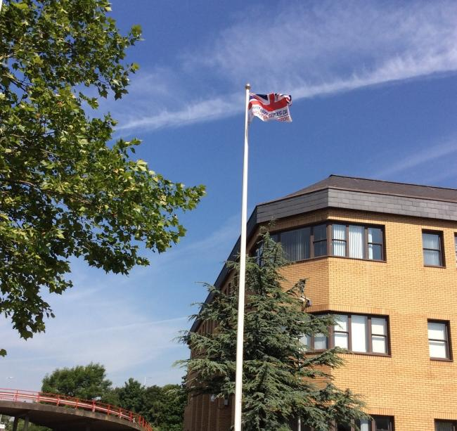 Armed Forces Day Flag at Port Talbot Civic Centre