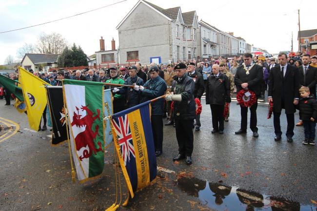 Ammanford Royal British Legion Branch is in charge of running the annual Remembrance Service in the town
