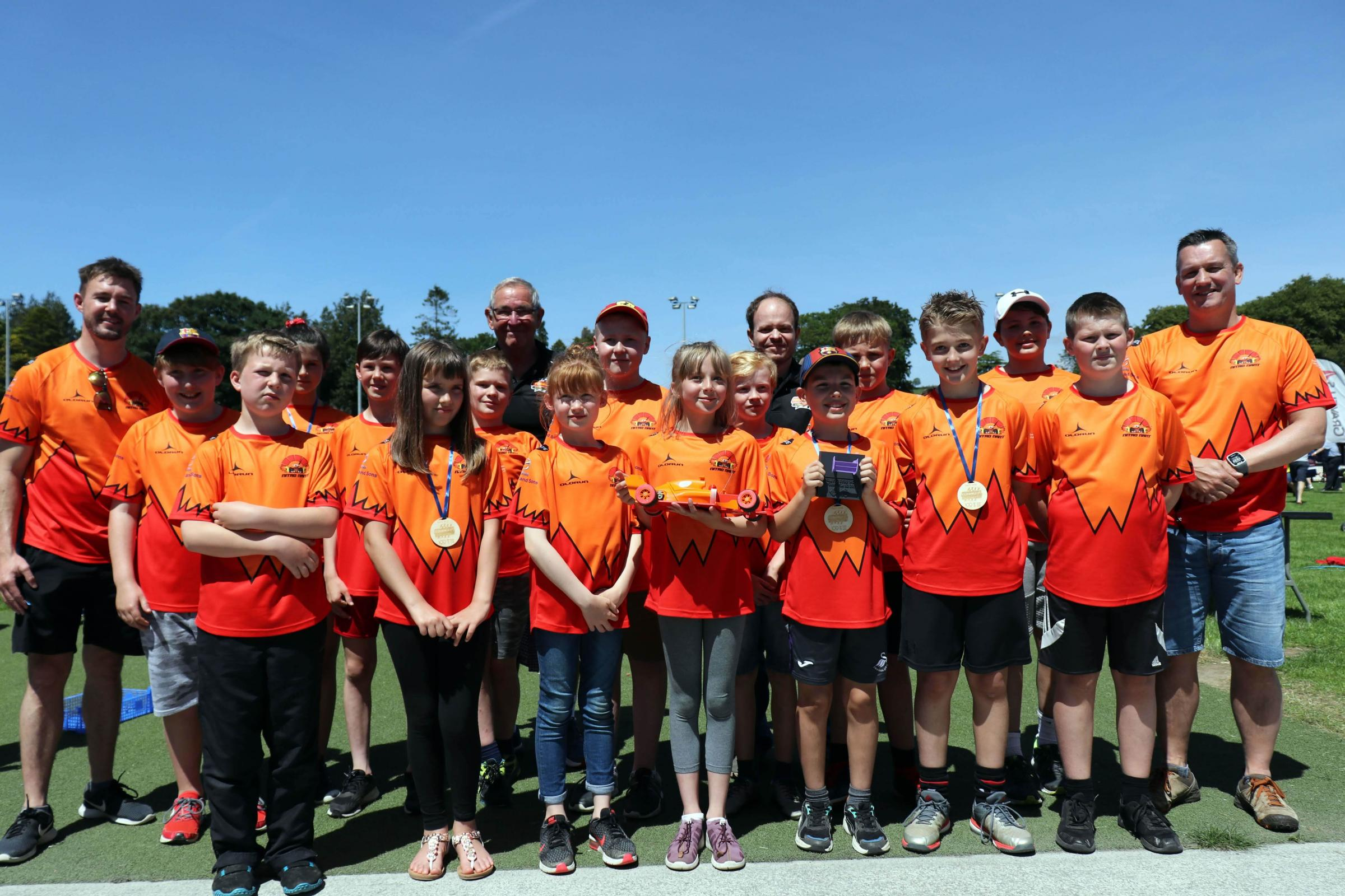 Top gear for pupils at 3D printed car race
