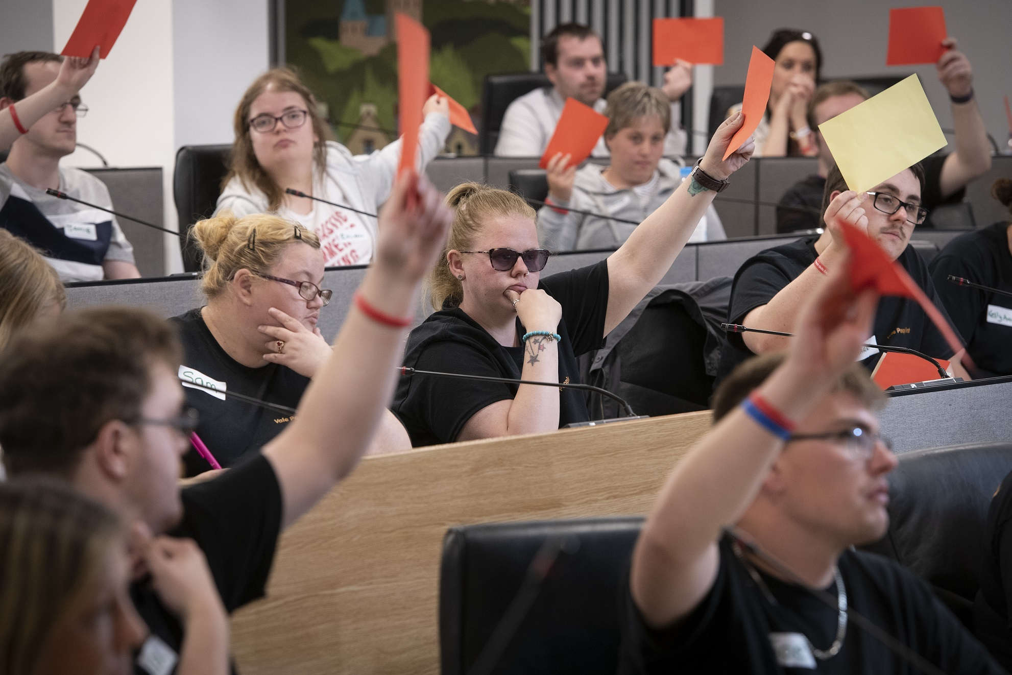 Disabled youngsters go head-to-head with politicians