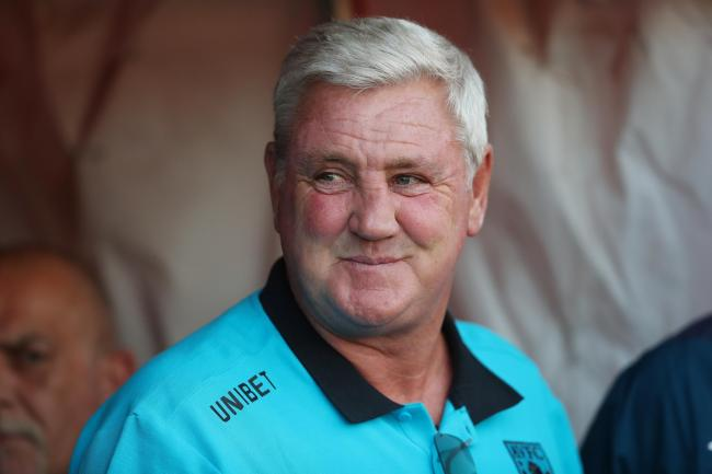 Steve Bruce has taken his first training session as Newcastle head coach