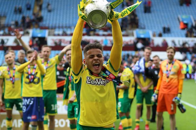 Norwich's Max Aarons helped the Canaries to the Sky Bet Championship title last season