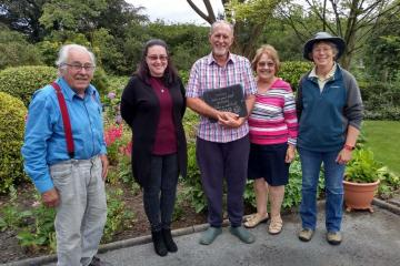 Cross Hands couple win 'Pride in Your Garden' competition