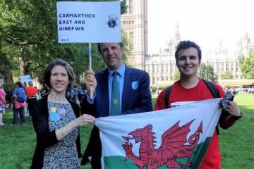 Plaid MP meets constituents in Westminster for historic environment and climate lobby