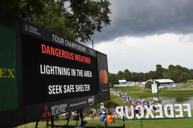 The Tour Championship had already seen play delayed by bad weather before Saturday's lightning strikes in Atlanta.
