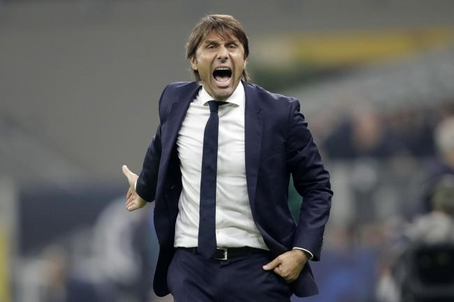 Inter Milan's head coach Antonio Conte shouts during the 2-0 Champions League win against Borussia Dortmund