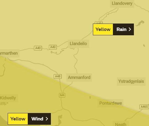 A yellow weather warning has been issued. Image: Met Office