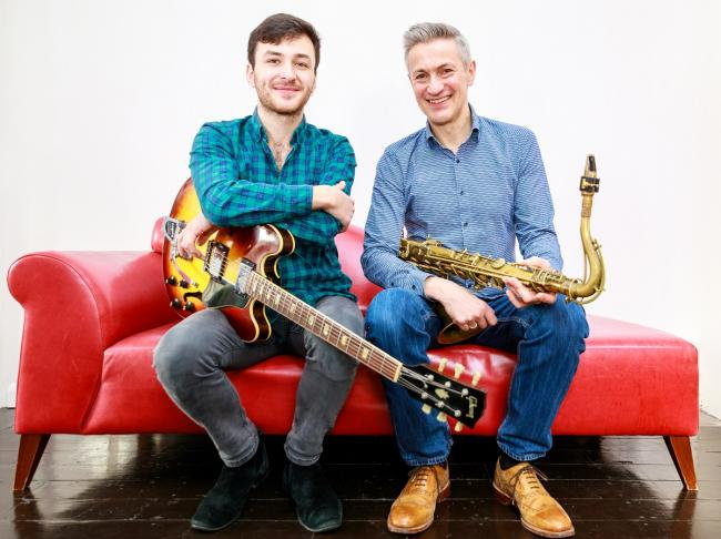 Dave O'Higgins & Rob Luft who play Jazzland in Swansea on November 6