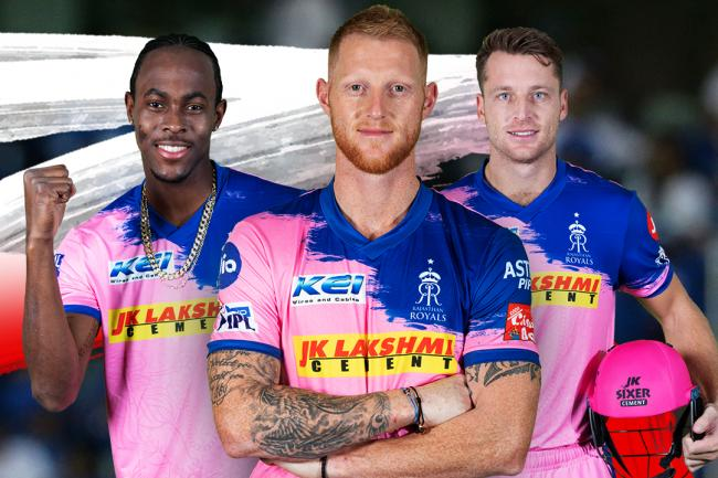 Jofra Archer, Ben Stokes and Jos Buttler (left to right) are staying with the Royals