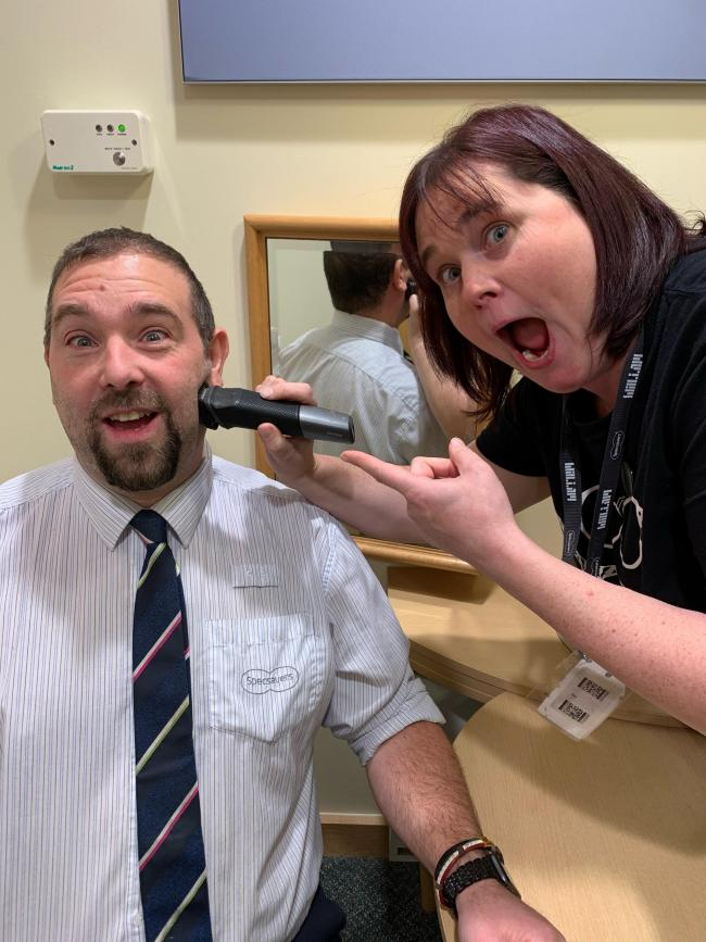 Simon Smiriglia, from the Specsavers store on Quay Street, ditched the beard to raise funds for Specsavers' charity partner of the year, Teenage Cancer Trust Cymru.