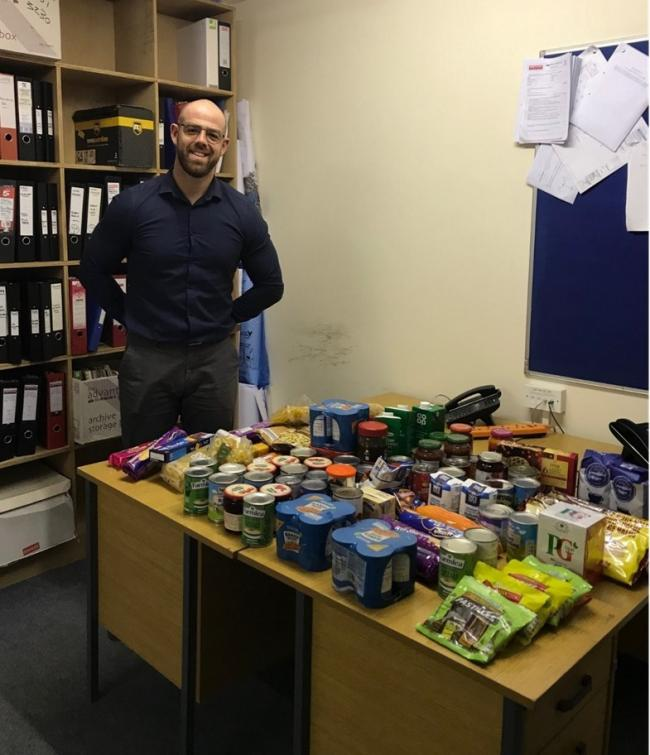 Gavin Perry, Griffiths, co-ordinated the collection and delivered the goods in time for Christmas.