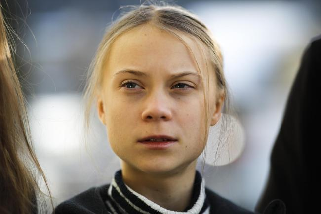 Swedish climate activist Greta Thunberg in Davos, Switzerland