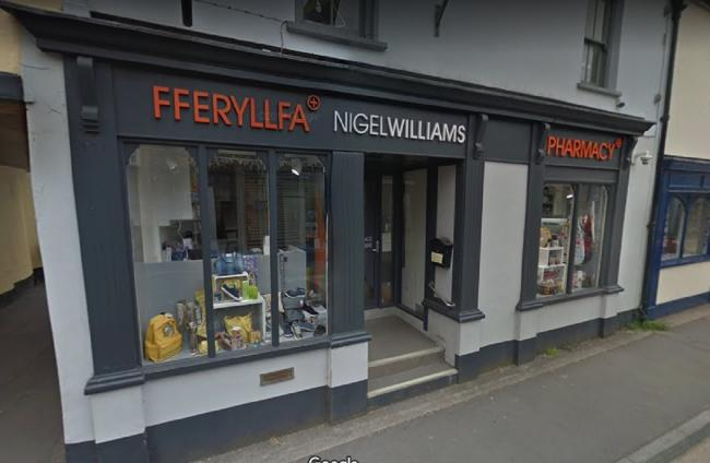 Nigel Williams Pharmacy in Llandeilo is one of three to open on Sundays