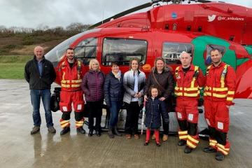 Wales Air Ambulance benefits from pharmacy fundraiser