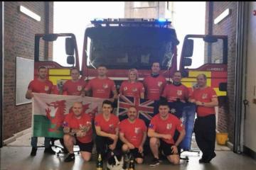 Llandeilo fire crew's cycle challenge raises money for namesake brigade in Australia
