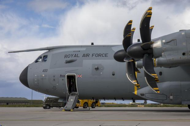 South Wales Guardian: This is an Airbus A400M Atlas, the type of airfact seen over Glasgow in recent weeks (Image: RAF)