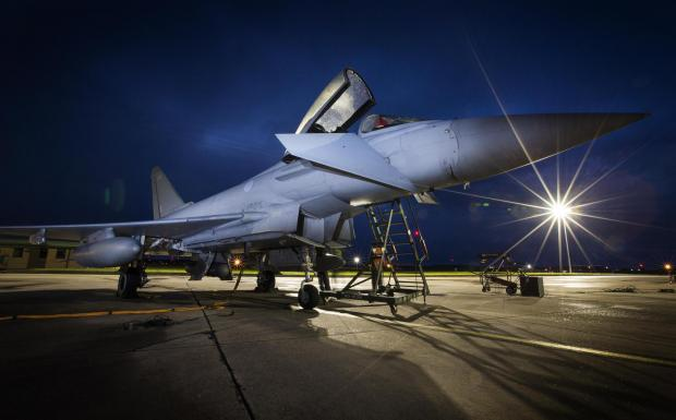 South Wales Guardian: A Typhoon jet