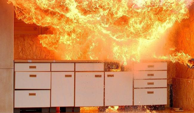 Kitchen fire.  Picture Pixabay