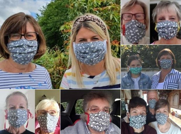 Some members of the Trap WI face mask team