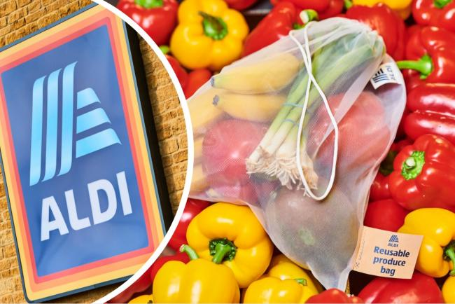 Aldi confirm they will remove single-use bags for fruit and vegetables at every store. Pictures: Aldi