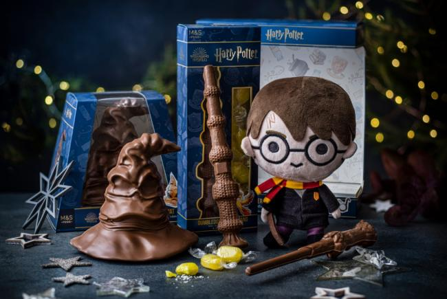 M&S launches Harry Potter range - with chocolate frogs and an edible sorting hat. Pictures: M&S