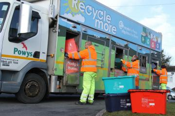 Residents in Powys could see black bin collection move to monthly