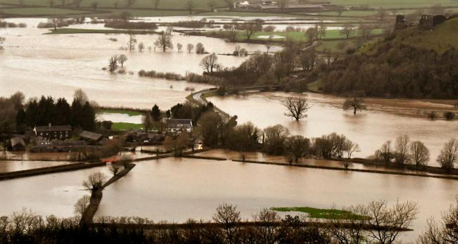 The flooded Towy valley  Picture: Stuart Ladd