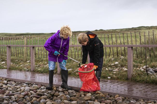 Keep Wales Tidy have partnered with Local Authorities to launch Caru Cymru  Picture: Polly Thomas