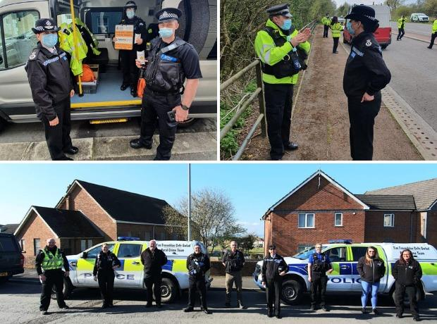 Dyfed-Powys Police teams took part in a day of action