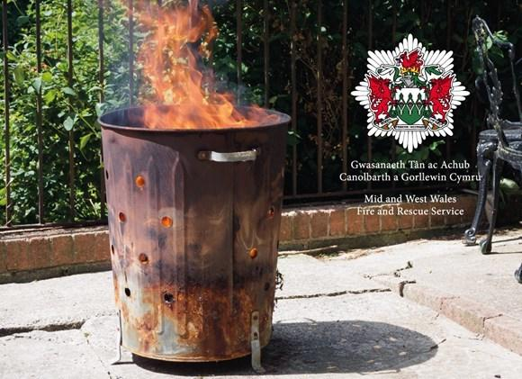 Fire service issues garden incinerator warning
