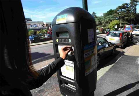 Free parking move due to gas work in Llandeilo