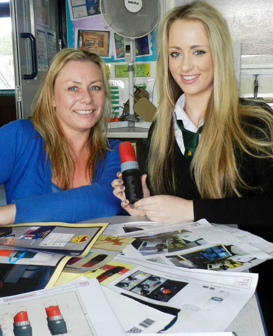 BRIGHT SPARK: Ysgol Dyffryn Aman Nia Williams (right) and teacher Elizabeth Atkinson.