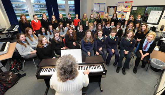 SINGING SUCCESS: Carmarthenshire Secondary Schools Choir have come a long way in a short time.