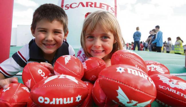 FUN DAY: Niamh and Luke Devonald from Haverfordwest at Murco Family Day.