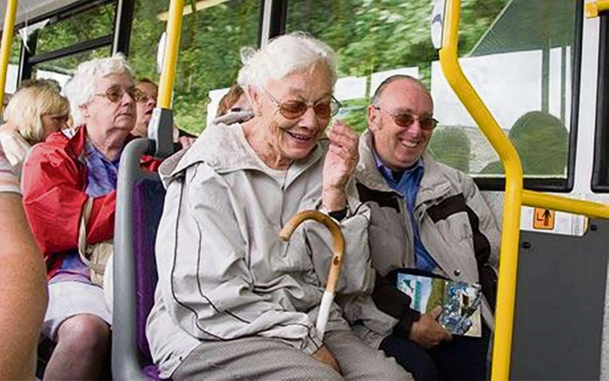 Image result for elderly using public transport