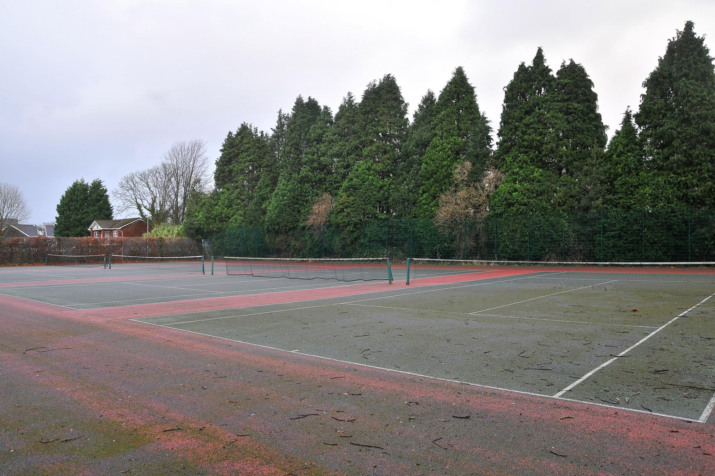 Ammanford tennis court.