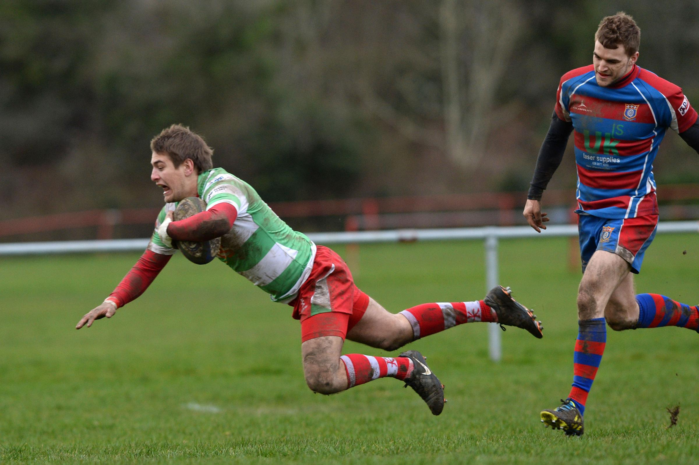 CRACKER: Drovers centre Matthew Jacobs claimed two tries in the 45-6 victory at Tondu.
