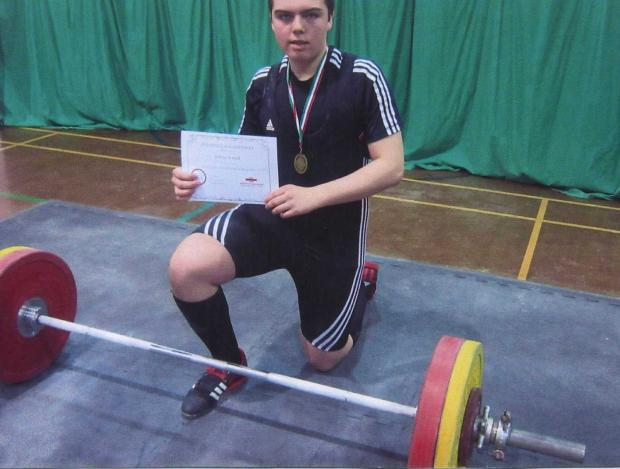 Arthur Arnold shattered the Welsh Schoolboy weightlifting records.
