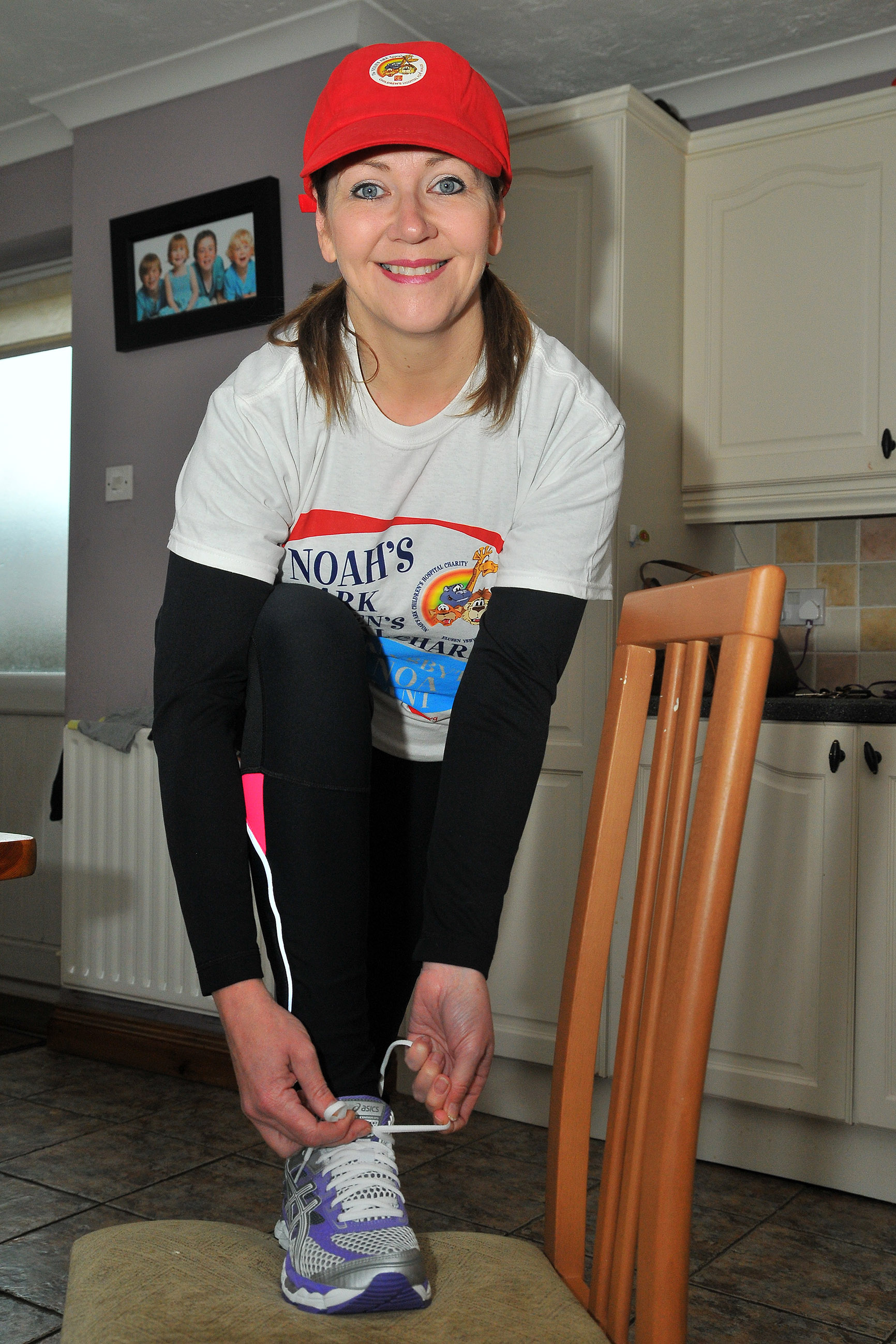 BEST FOOT FORWARD: Susan Howell is set to run the Paris Marathon on behalf of the Noah's Ark Appeal. Picture by Mark Davies