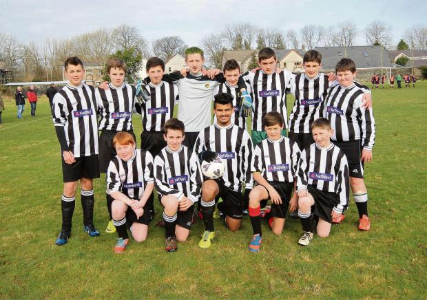 South Wales Guardian: MEET AMMANFORD FC UNDER 14s: Who are captained by Allen George.Pic: SDD