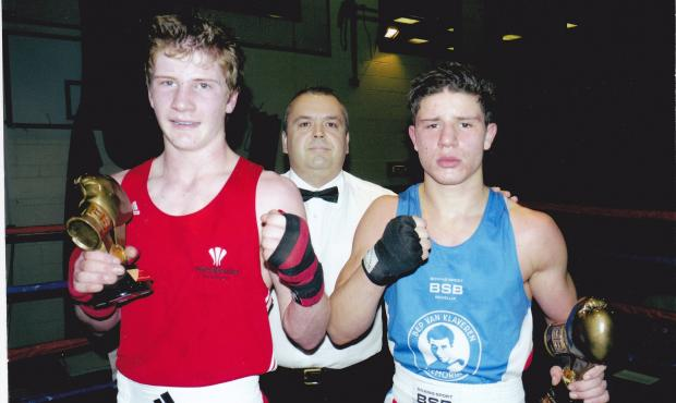BIG-HITTER: Towy Valley hitman Jake Anthony pulled on the Welsh vest for the first time recently as he made his his Wales debut with a split-decision victory  over Nabil Haryouli of the Netherlands in a 66kg bout at Gilfach Goch community centre.