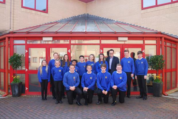 SIMPLY THE BEST? Children's Commissioner Keith Towler meets the pupils of Cwmtawe School in Pontardawe.