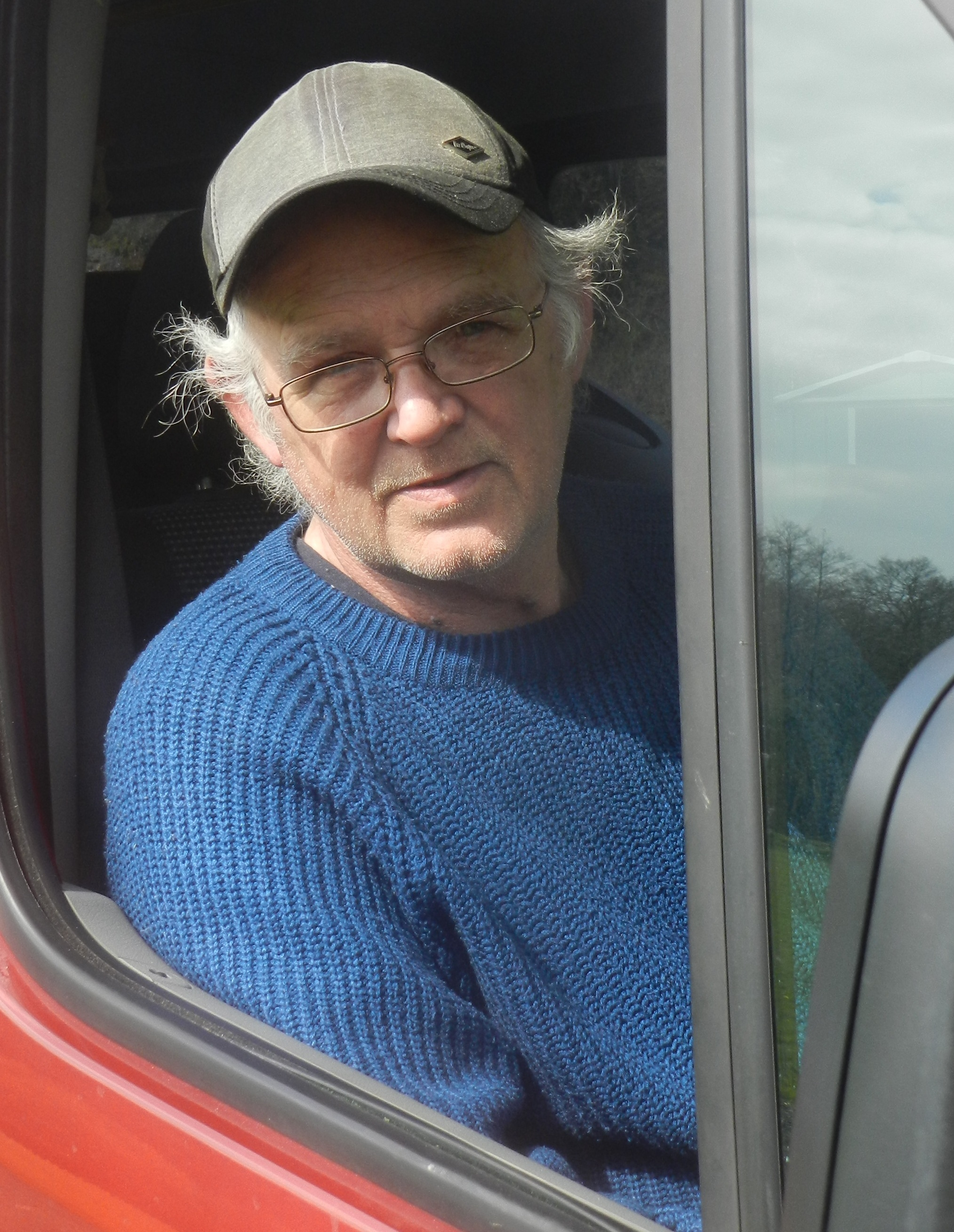 DESPERATE: Disabled former builder Tony Lyndon has spent three weeks stuck in the driver's seat of his van.