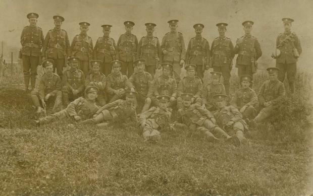 South Wales Guardian: FOR KING AND COUNTRY: A unit of raw recruits from the south-west Wales region relax to enjoy some time out from basic training before heading for the front line during World War One.