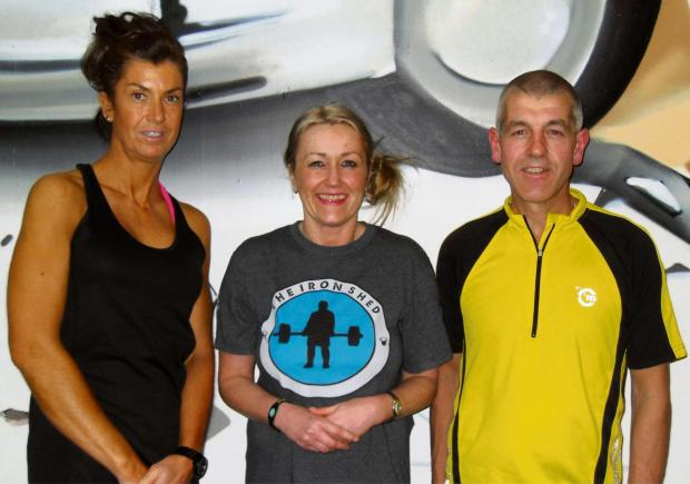 HELLRAISERS: Lesley Mainwaring, Lesa Hitchings, Nigel Barnes plan to raise money by completing seven days of Hell - seven marathons in seven days taking in the length of Wales.