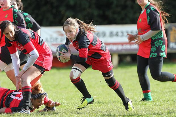 CLARION CALL: Penybanc's Catrin Rees against Nantyfyllon in March. The Panthers' skipper is calling for a big crowd to roar them on to victory and set up a fairy -tale climax to their first season.