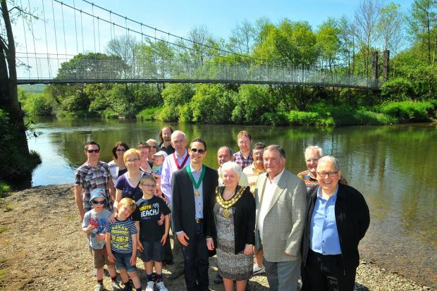 Llandeilo's King Bridge has been given a makeover after vandals caused over £40,000 worth of damage.