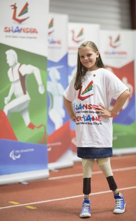 BERLIN-BOUND: Molly Hopkins, aged 11, will be heading to Berlin to interview Paralympian stars.