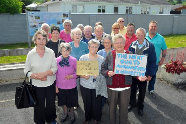 BUS STOP: Ffairfach residents say the reduction in service has left them completely cut off.